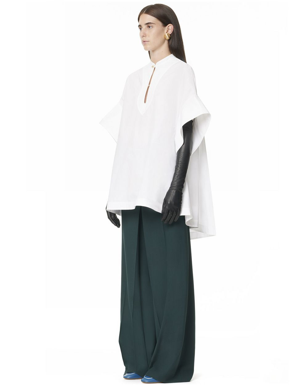 Short-sleeved tunic with cape back - Lanvin
