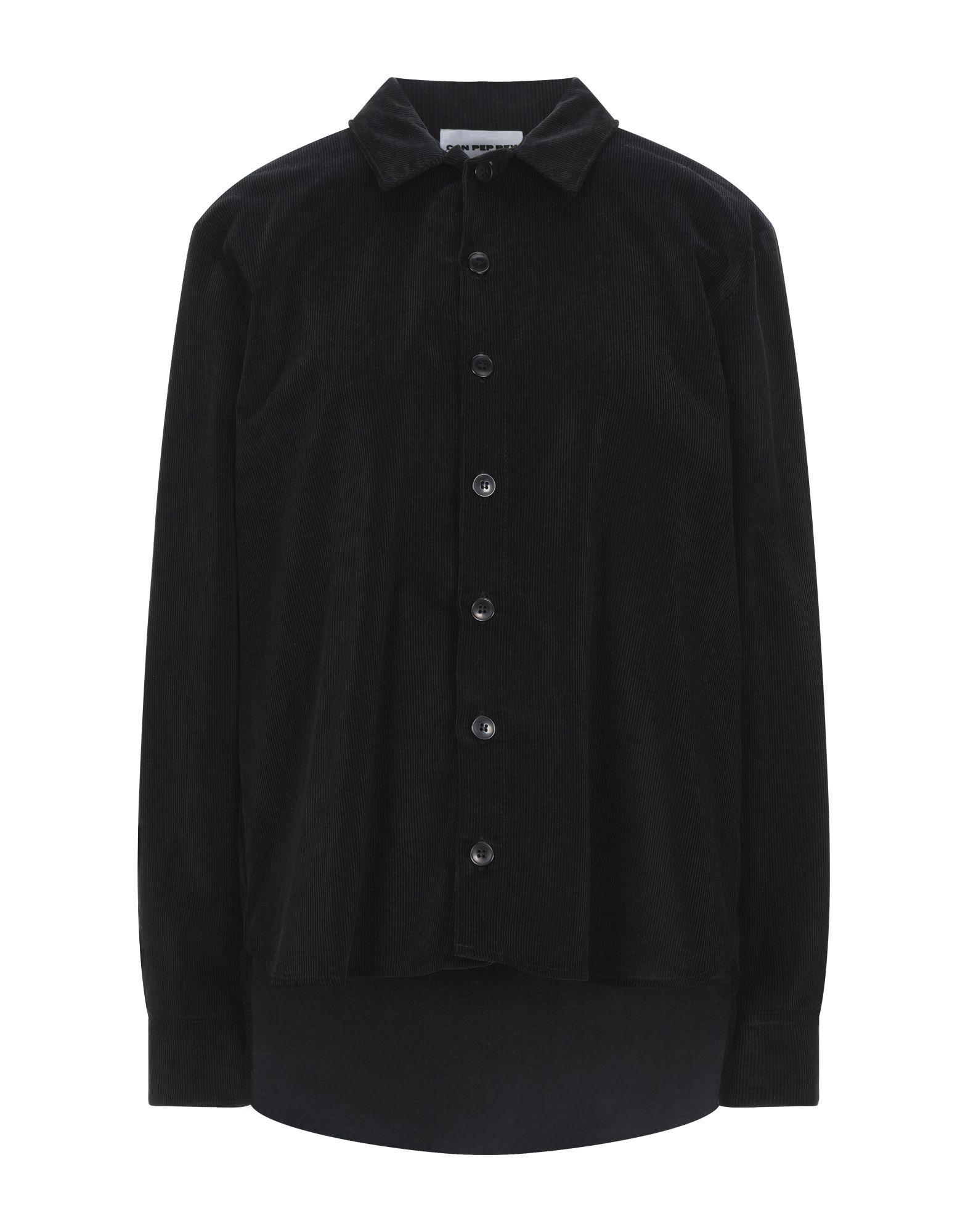 《セール開催中》CAN PEP REY レディース シャツ ブラック M コットン 100%