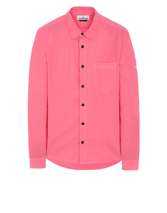 STONE ISLAND 12501 Long sleeve shirt Man Cyclamen
