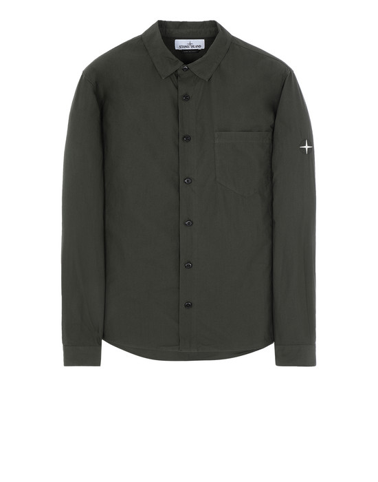 STONE ISLAND 12501 Long sleeve shirt Man Musk Green