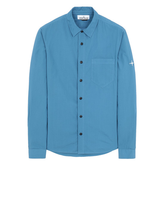 STONE ISLAND 12501 Long sleeve shirt Man Periwinkle