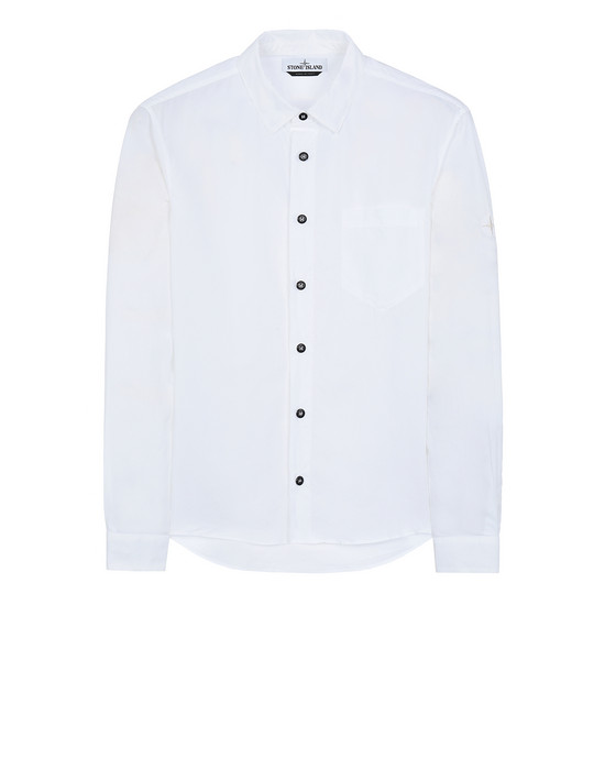 STONE ISLAND 12501 Long sleeve shirt Man White