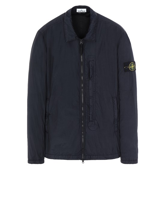 STONE ISLAND 10123 GARMENT DYED CRINKLE REPS NY OVER SHIRT Man Blue