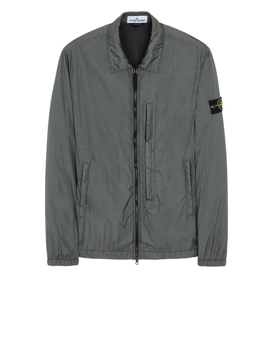STONE ISLAND 10123 GARMENT DYED CRINKLE REPS NY OVER SHIRT Man Musk Green