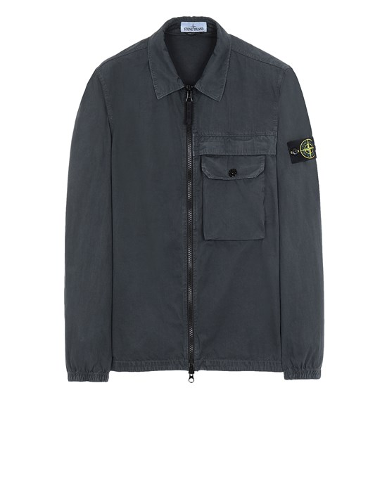 STONE ISLAND 107WN T.CO+OLD OVER SHIRT Man Steel Gray