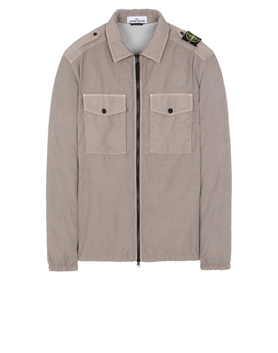 STONE ISLAND 11303 NASLAN LIGHT OVER SHIRT Man Mud