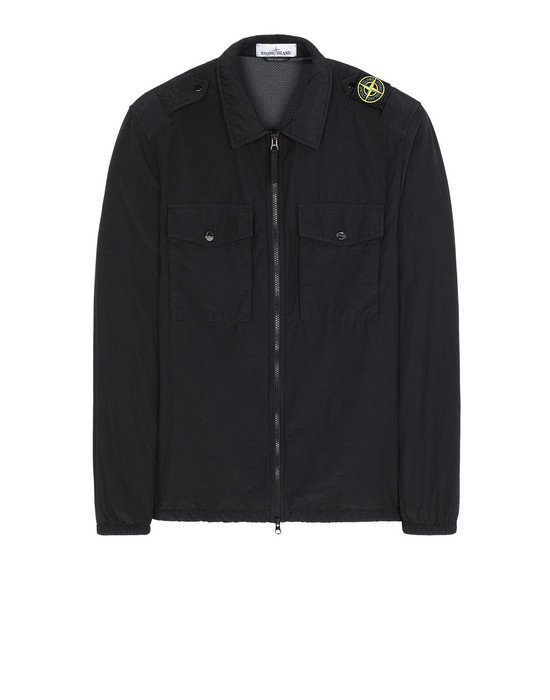 STONE ISLAND 11303 NASLAN LIGHT 衬衫外套 男士 黑色