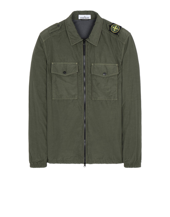 STONE ISLAND 11303 NASLAN LIGHT OVER SHIRT Man Musk Green