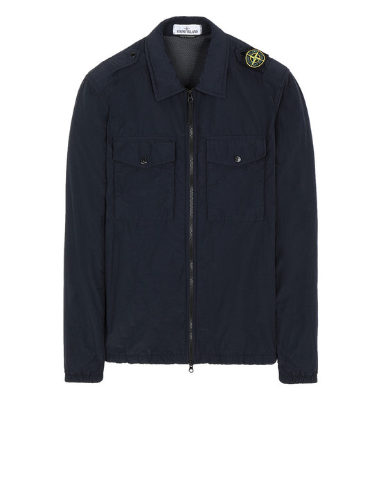 STONE ISLAND 11303 NASLAN LIGHT OVER SHIRT Man Blue