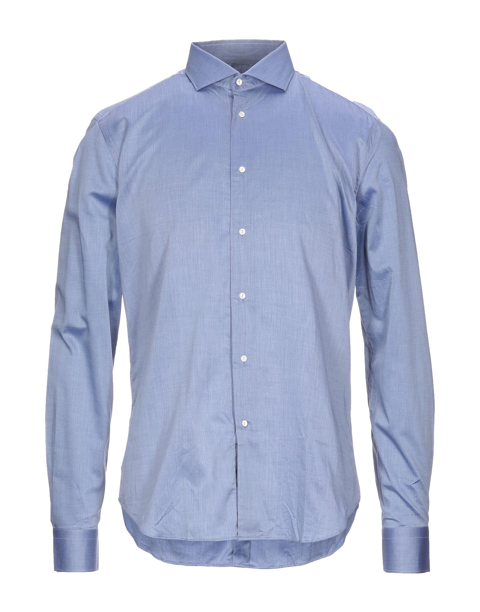 《セール開催中》TREND CORNELIANI メンズ シャツ ブルー 41 コットン 100%