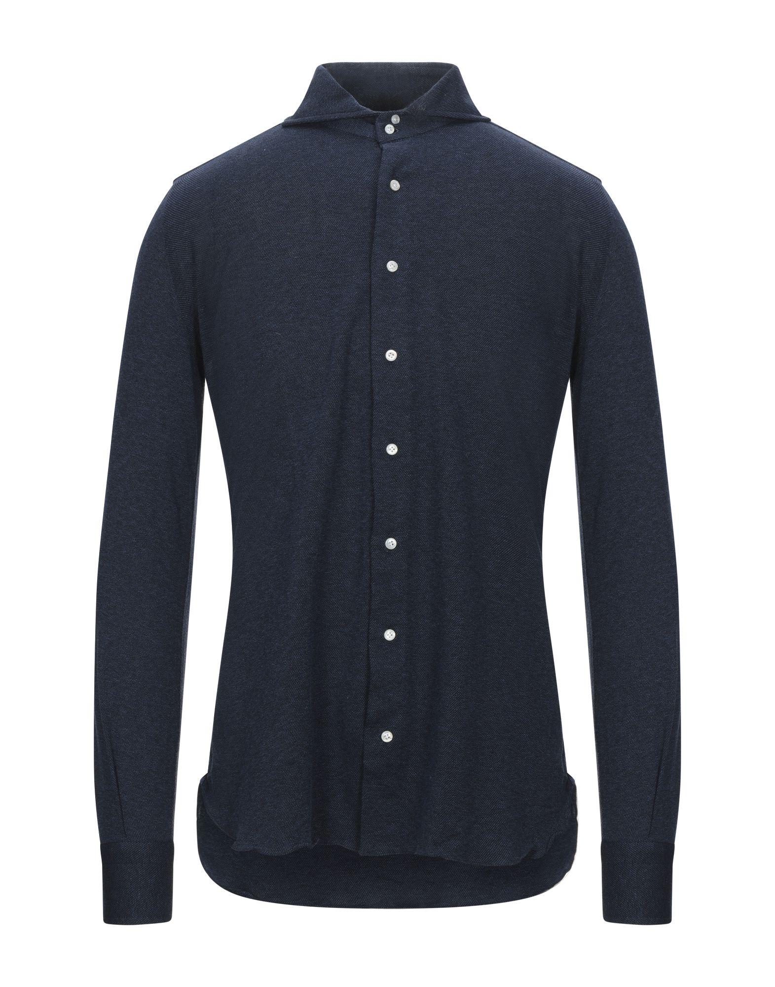 《セール開催中》STILE LATINO メンズ シャツ ダークブルー 38 コットン 100%