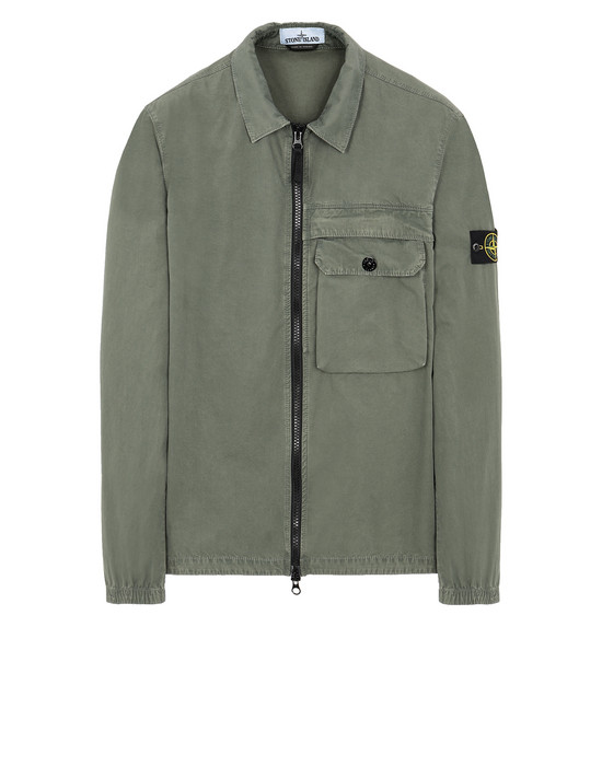 STONE ISLAND 107WN T.CO+OLD OVER SHIRT Man Sage Green