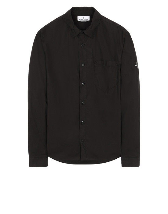 STONE ISLAND 12501 Long sleeve shirt Man Black