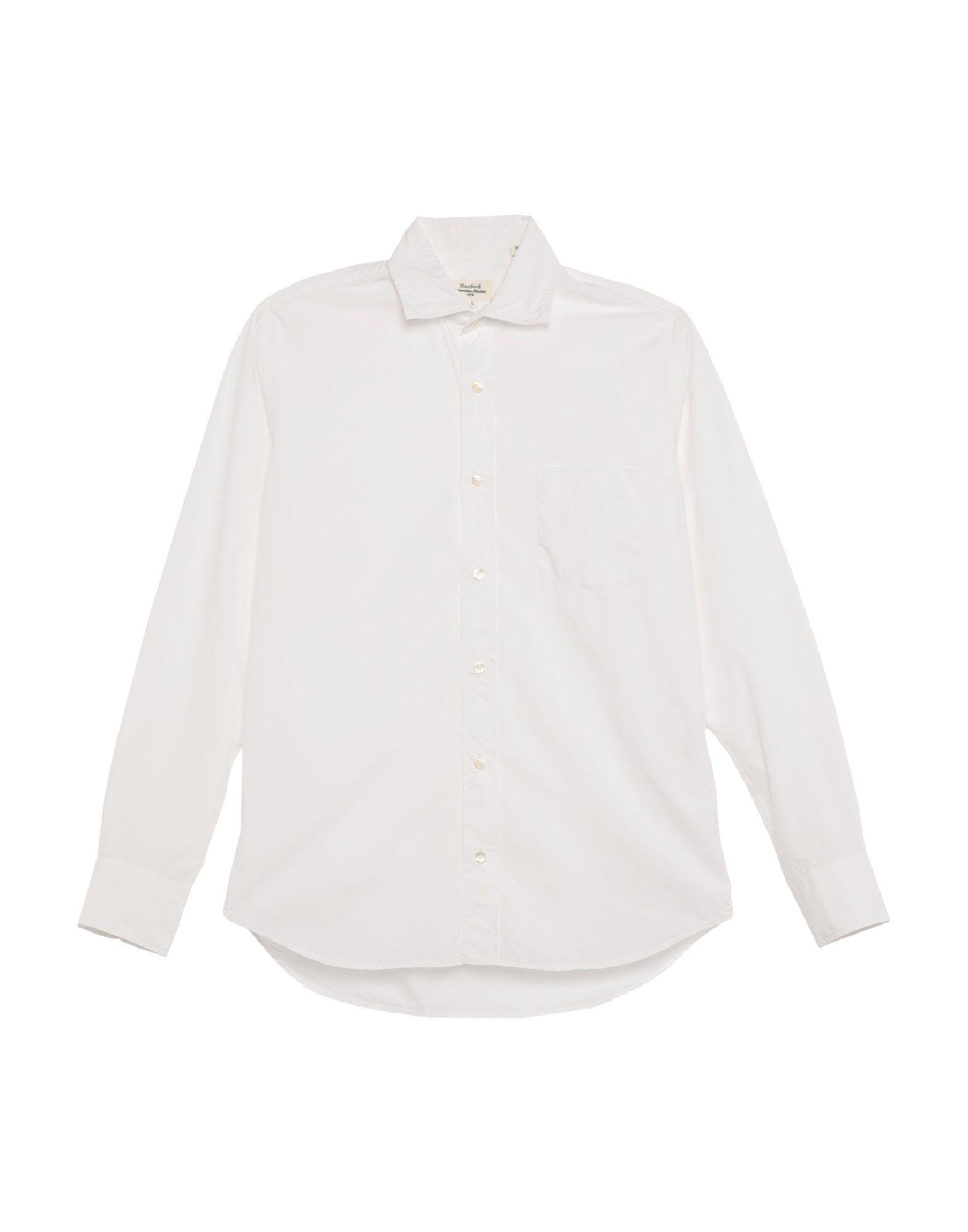 《セール開催中》HARTFORD メンズ シャツ ホワイト S コットン 100%