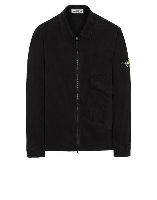 STONE ISLAND 10310 OVER SHIRT Man Black