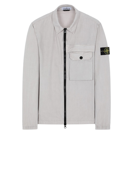 STONE ISLAND 107WN T.CO+OLD OVER SHIRT Man Dove Gray