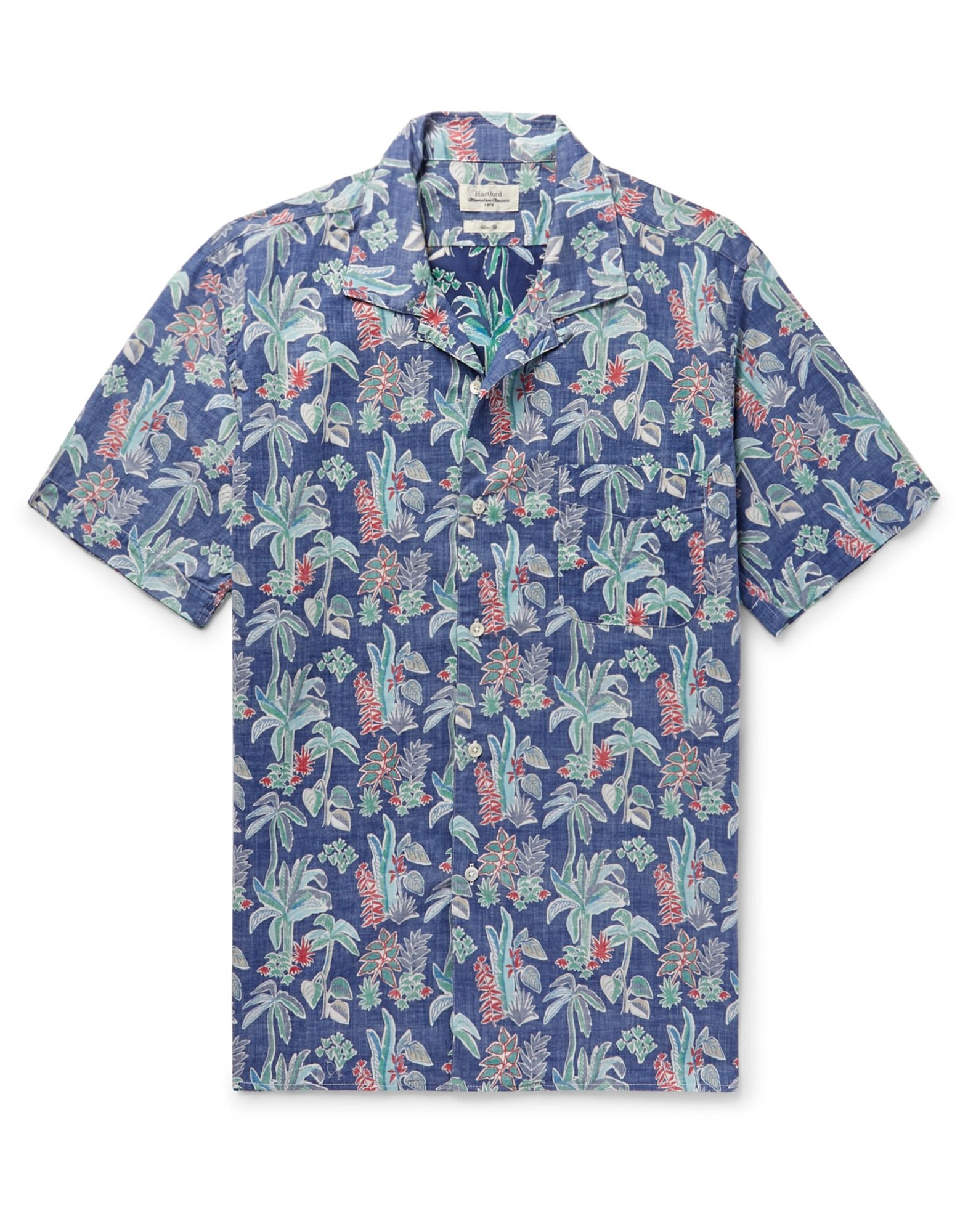 《セール開催中》HARTFORD メンズ シャツ ブルー M コットン 100%