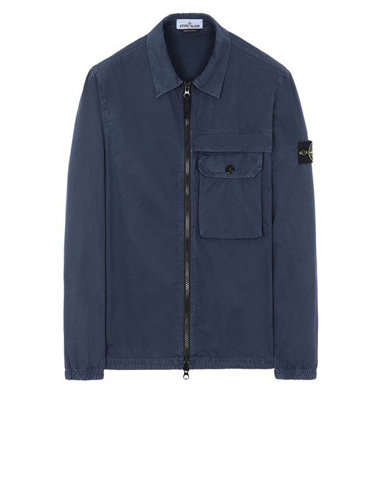 STONE ISLAND 107WN T.CO+OLD OVER SHIRT Man Marine Blue