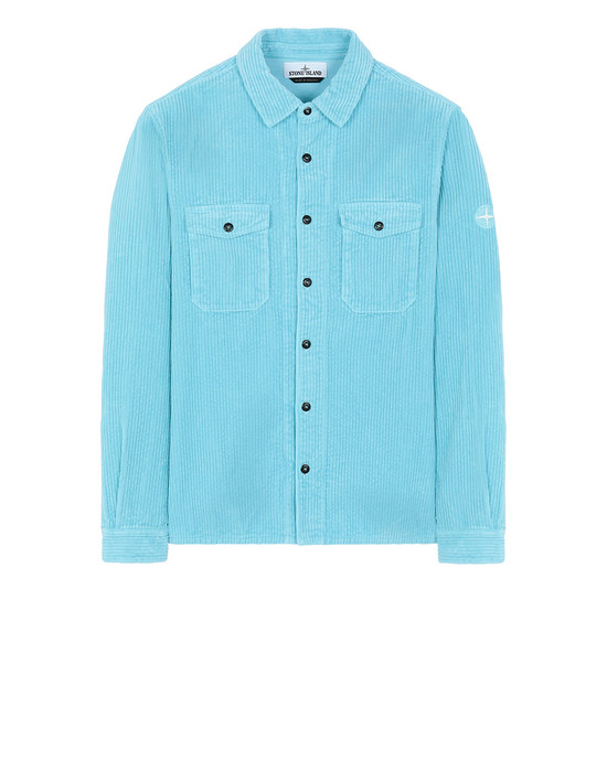 STONE ISLAND 12111 Long sleeve shirt Man Aqua