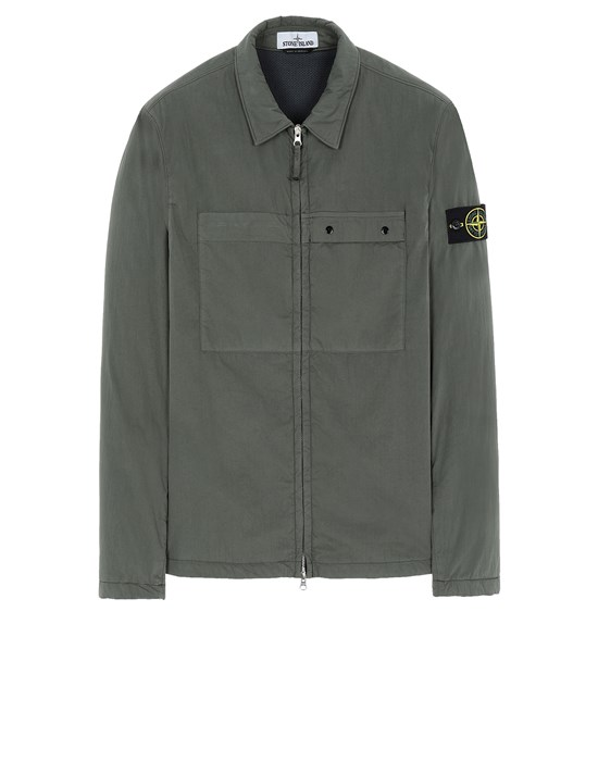STONE ISLAND 10404 OVER SHIRT Man Musk Green
