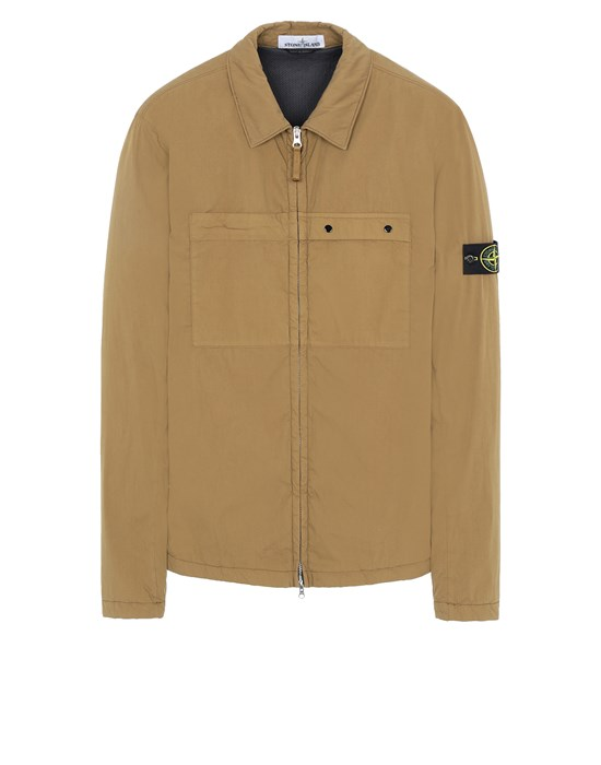 STONE ISLAND 10404 OVER SHIRT Man Tobacco