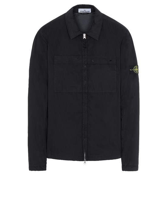 STONE ISLAND 10404 OVER SHIRT Man Black