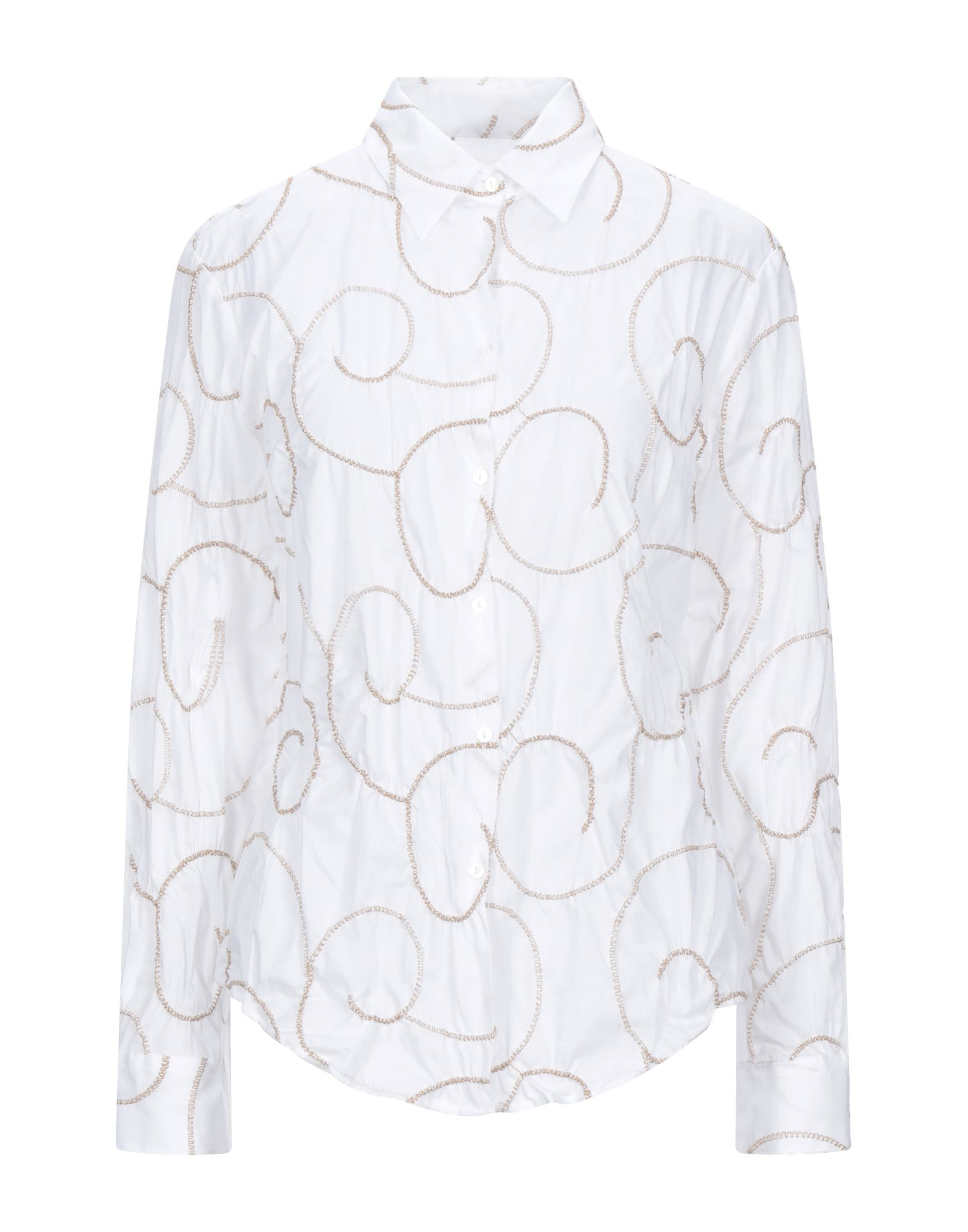 《セール開催中》CAMICETTASNOB レディース シャツ ホワイト 40 コットン 100%