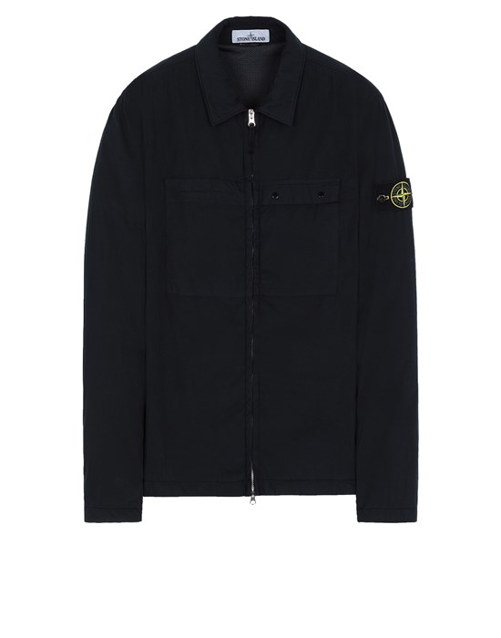 STONE ISLAND 10404 OVER SHIRT Man Blue