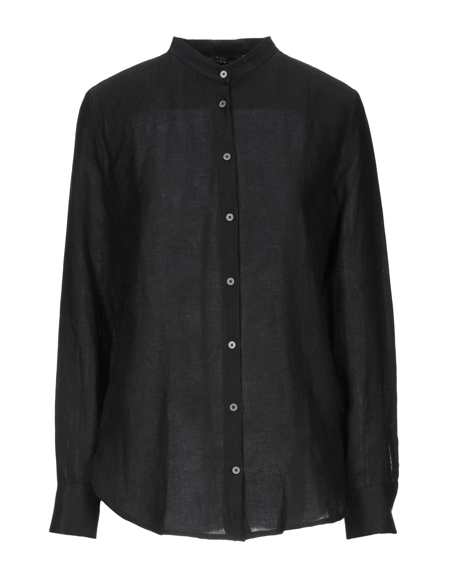 《セール開催中》CAMICETTASNOB レディース シャツ ブラック 42 リネン 100%