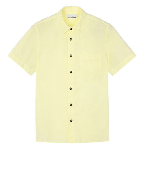 STONE ISLAND 11510 Short sleeve shirt Man Lemon