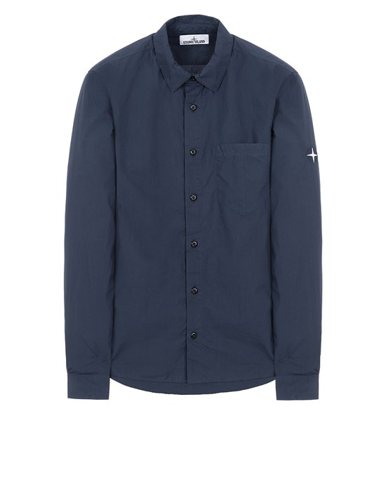 STONE ISLAND 12510 Long sleeve shirt Man Avio Blue