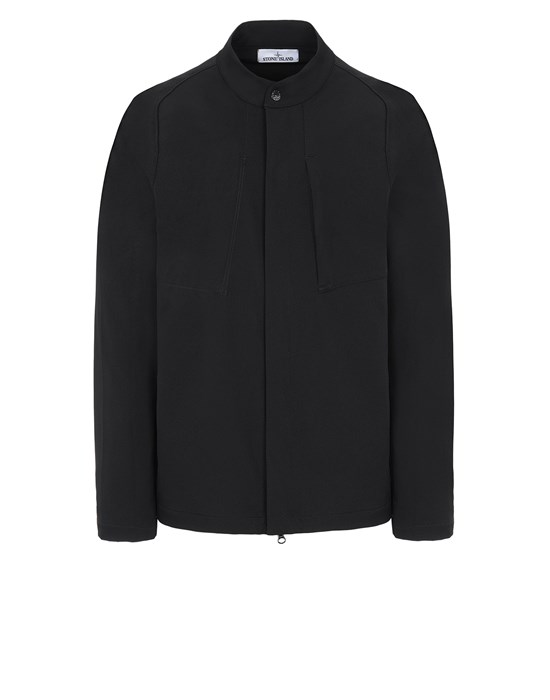 STONE ISLAND 121X4 STONE ISLAND MARINA<br>TWO-WAY STRETCH RECYCLED NYLON TWILL Over Shirt Man Black