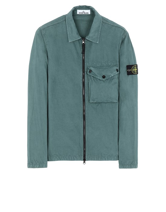 STONE ISLAND 117WN T.CO 'OLD'	 Over Shirt Man Dark Teal Green
