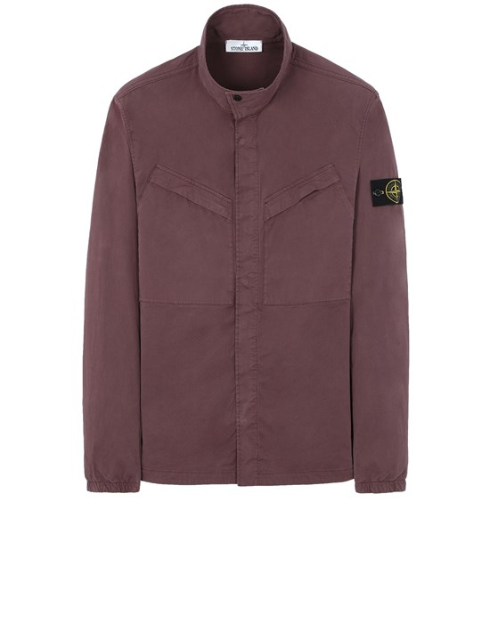 STONE ISLAND 10119 Over Shirt Man Dark Burgundy