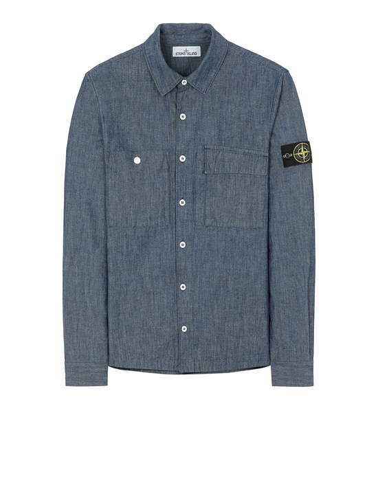 STONE ISLAND 12207 CHAMBRAY CANVAS  Long sleeve shirt Man Wash