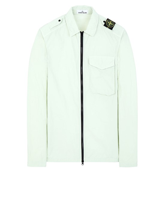 STONE ISLAND 10802 NASLAN LIGHT Over Shirt Man Light Green