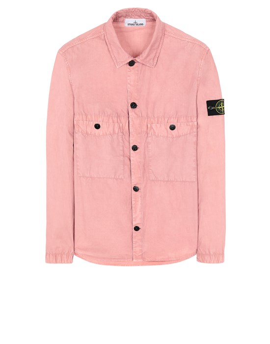 STONE ISLAND 110WN T.CO 'OLD' Over Shirt Man Pink Quartz