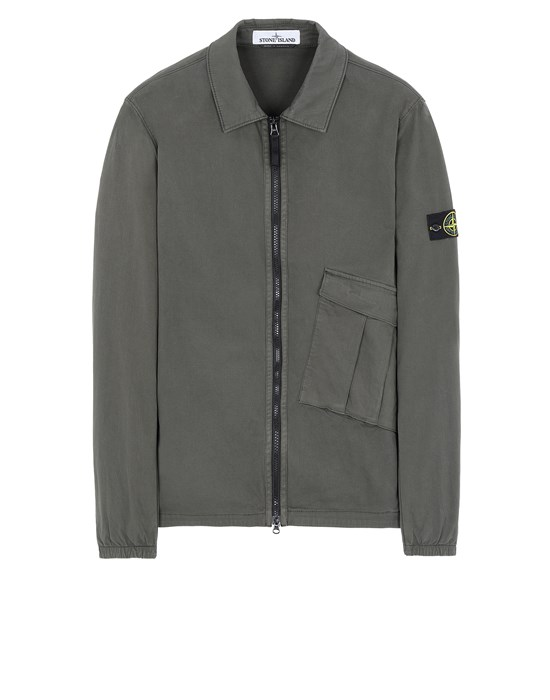 STONE ISLAND 10310 OVER SHIRT Man Musk Green