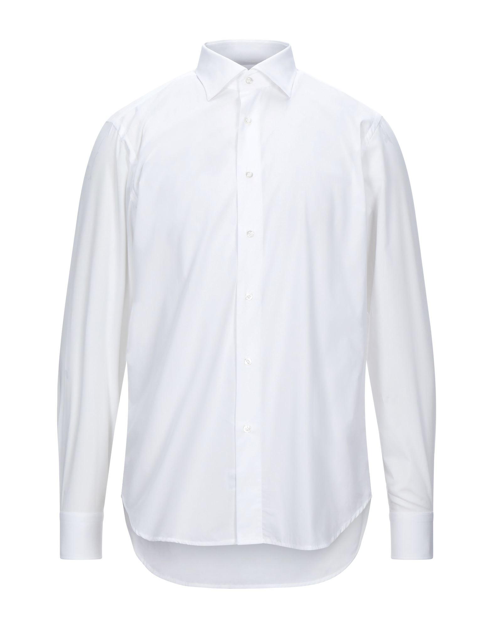 《セール開催中》ALVIERO MARTINI 1a CLASSE メンズ シャツ ホワイト 39 コットン 100%