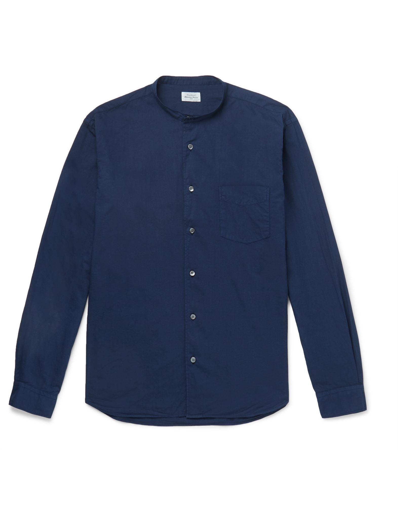 《セール開催中》HARTFORD メンズ シャツ ダークブルー L コットン 100%