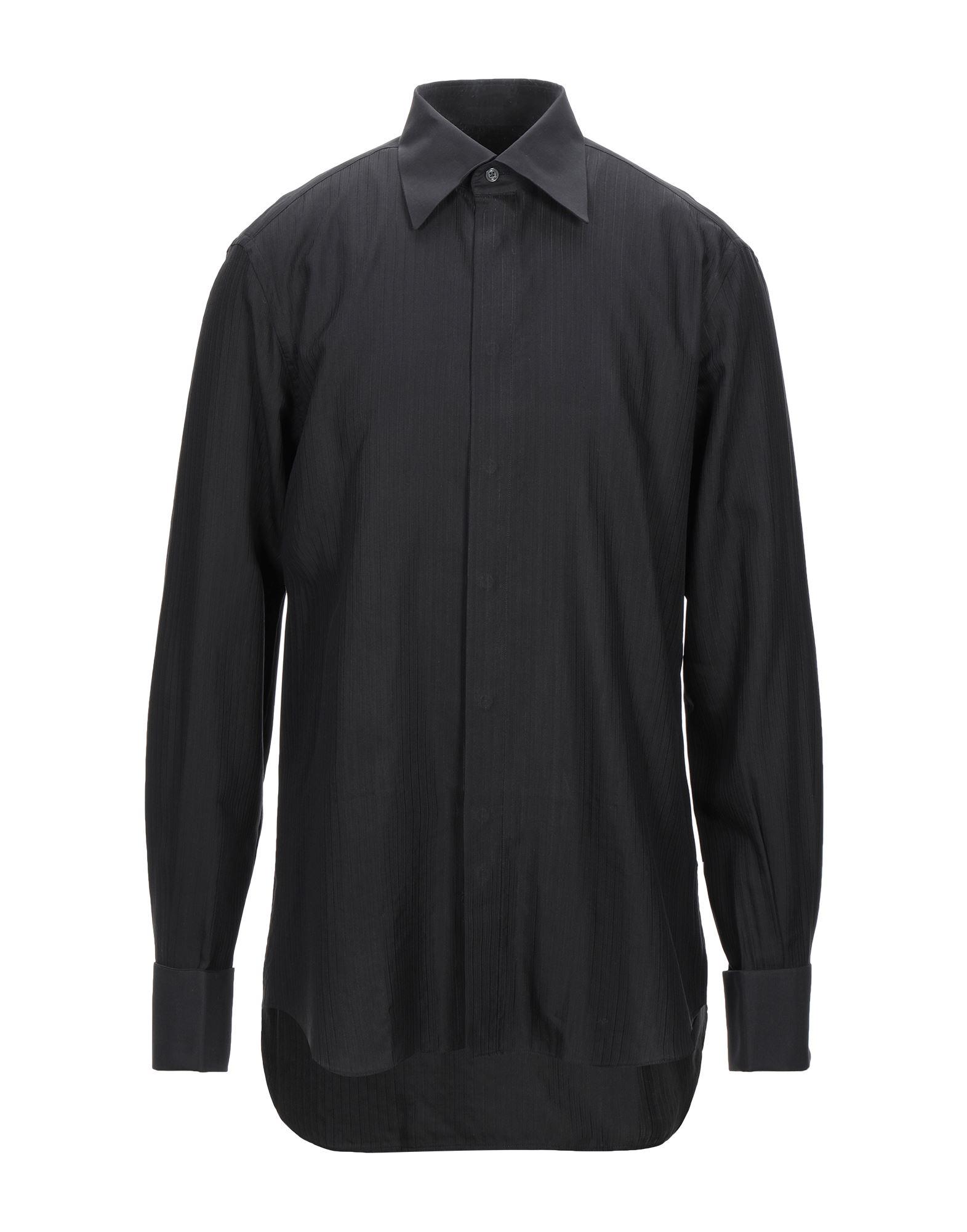 《セール開催中》PAL ZILERI CERIMONIA メンズ シャツ ブラック 43 コットン 50% / レーヨン 50%