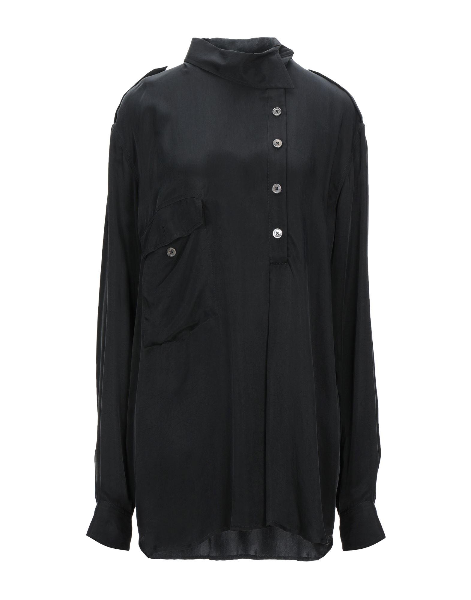 《セール開催中》ANN DEMEULEMEESTER レディース シャツ ブラック 38 キュプラ 100%