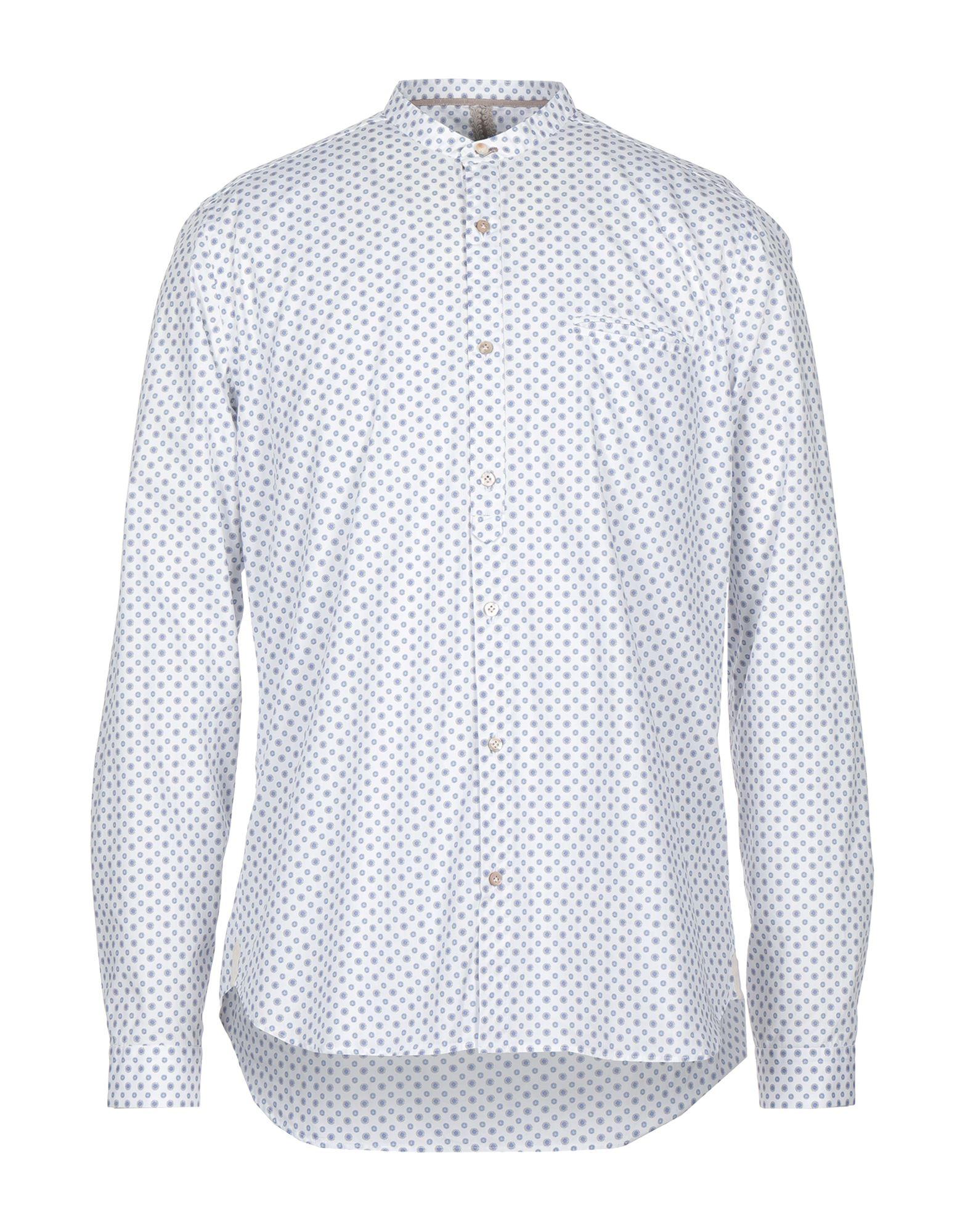 《セール開催中》DNL メンズ シャツ ホワイト 39 コットン 100%