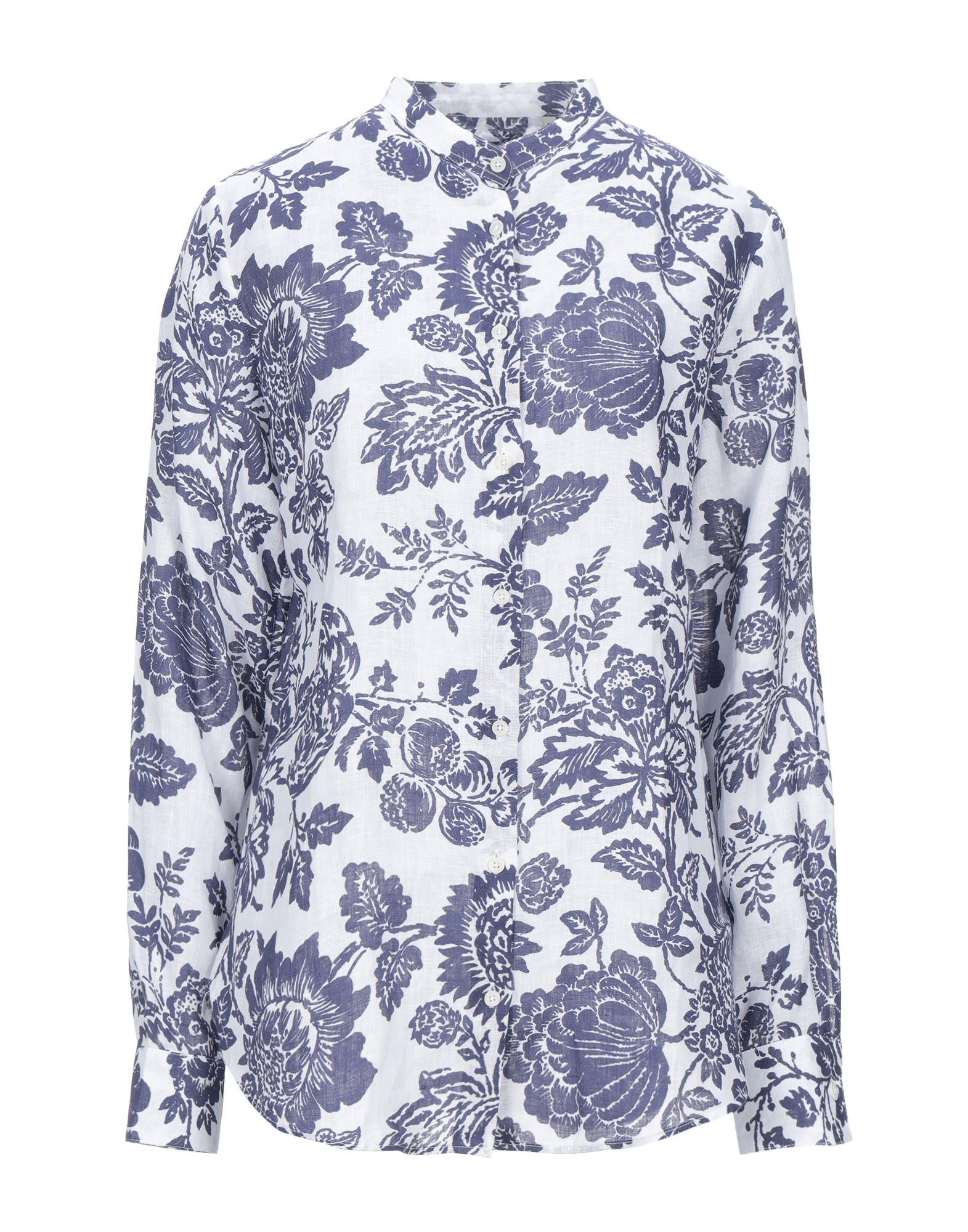 《セール開催中》CAMICETTASNOB レディース シャツ ブルー 42 リネン