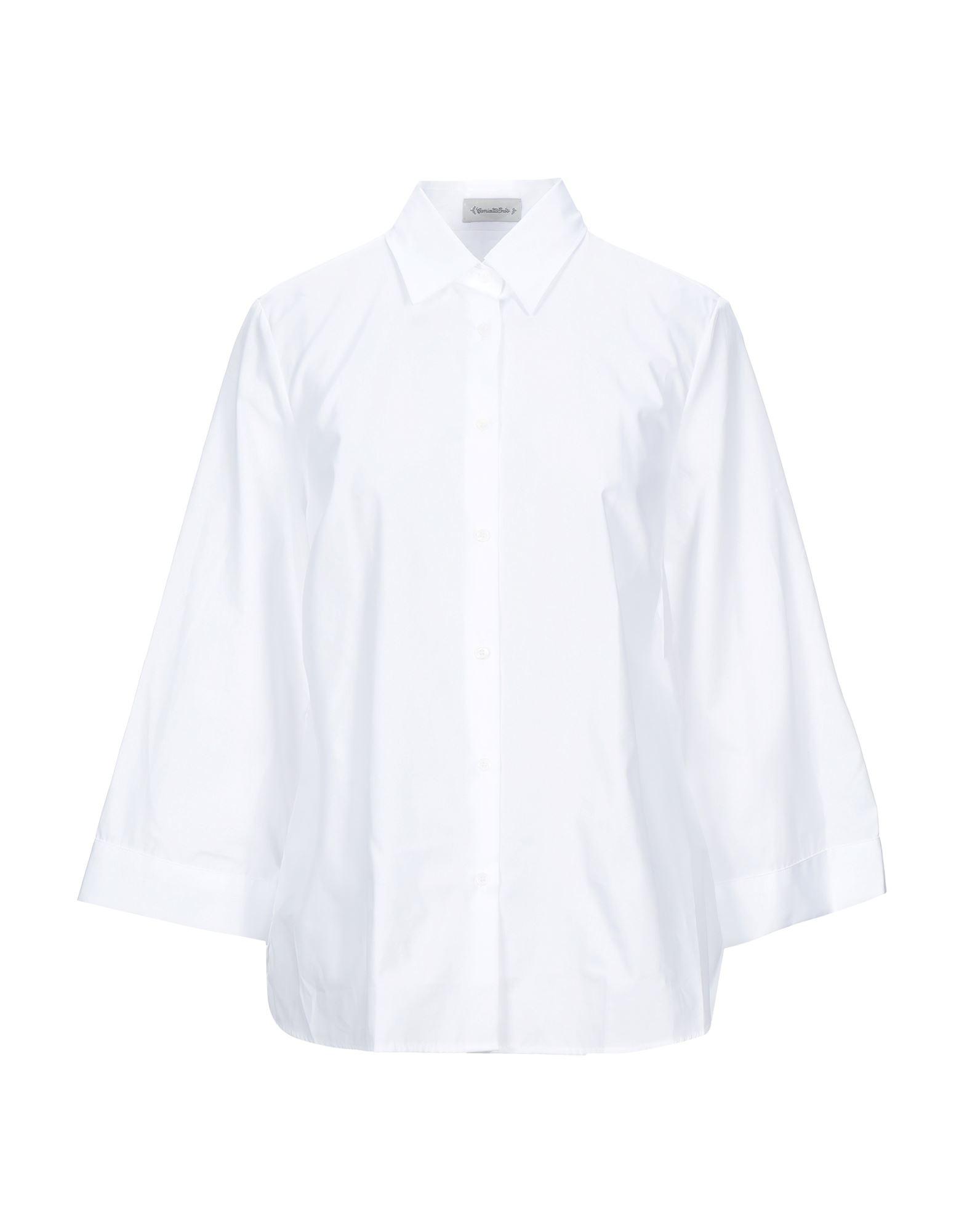 《セール開催中》CAMICETTASNOB レディース シャツ ホワイト 38 コットン 100%