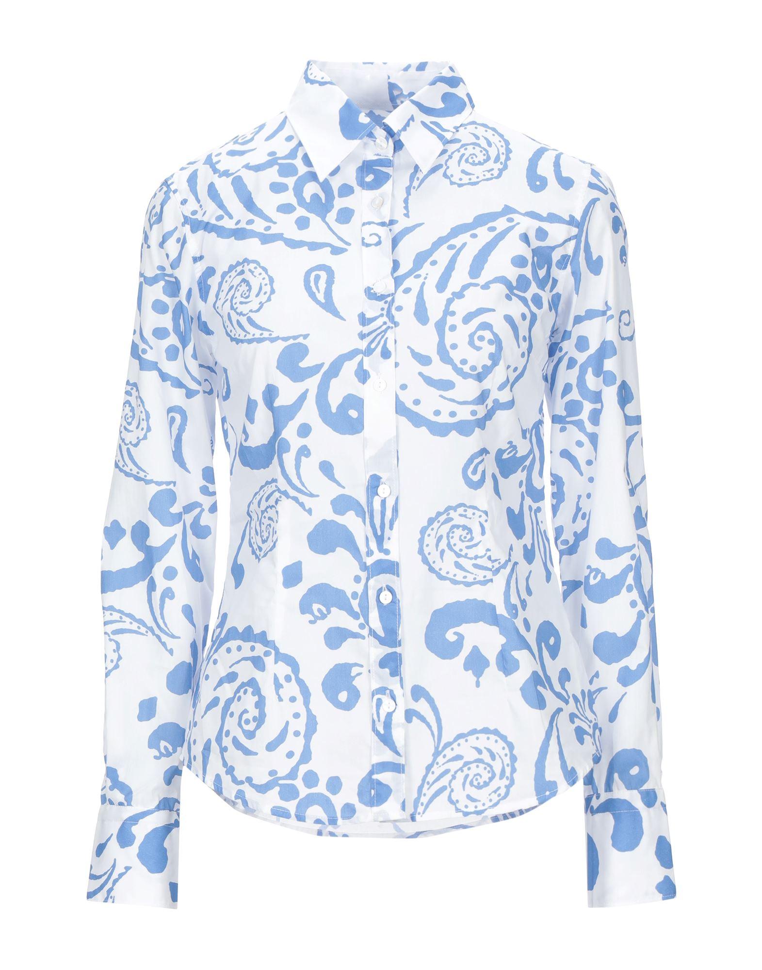 《セール開催中》CAMICETTASNOB レディース シャツ ブルー 42 コットン