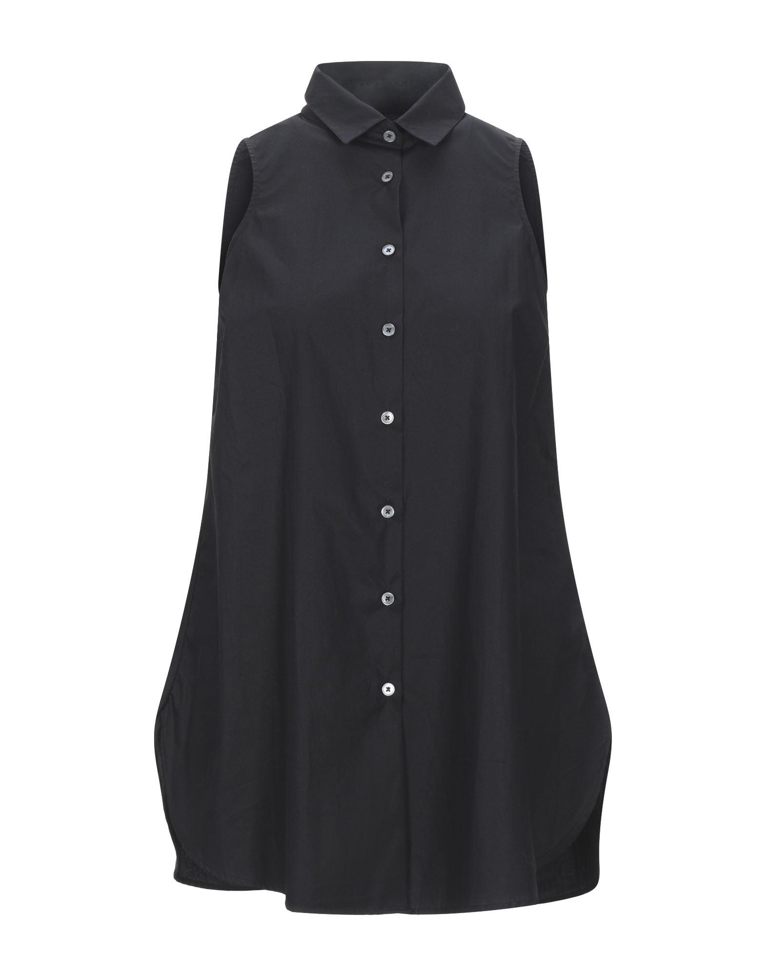 《セール開催中》CAMICETTASNOB レディース シャツ ブラック 40 コットン