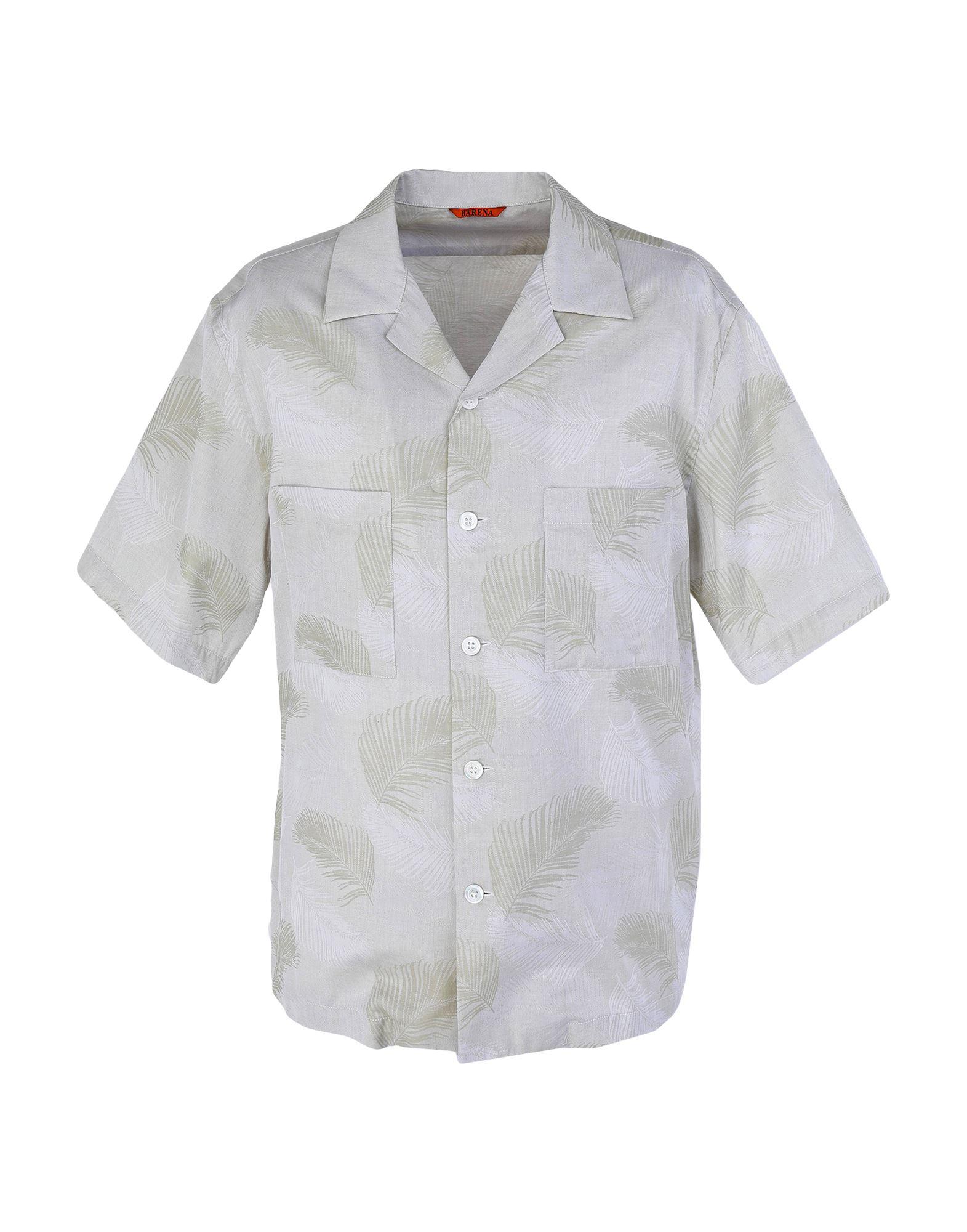 《セール開催中》BARENA メンズ シャツ ベージュ 46 コットン 100%
