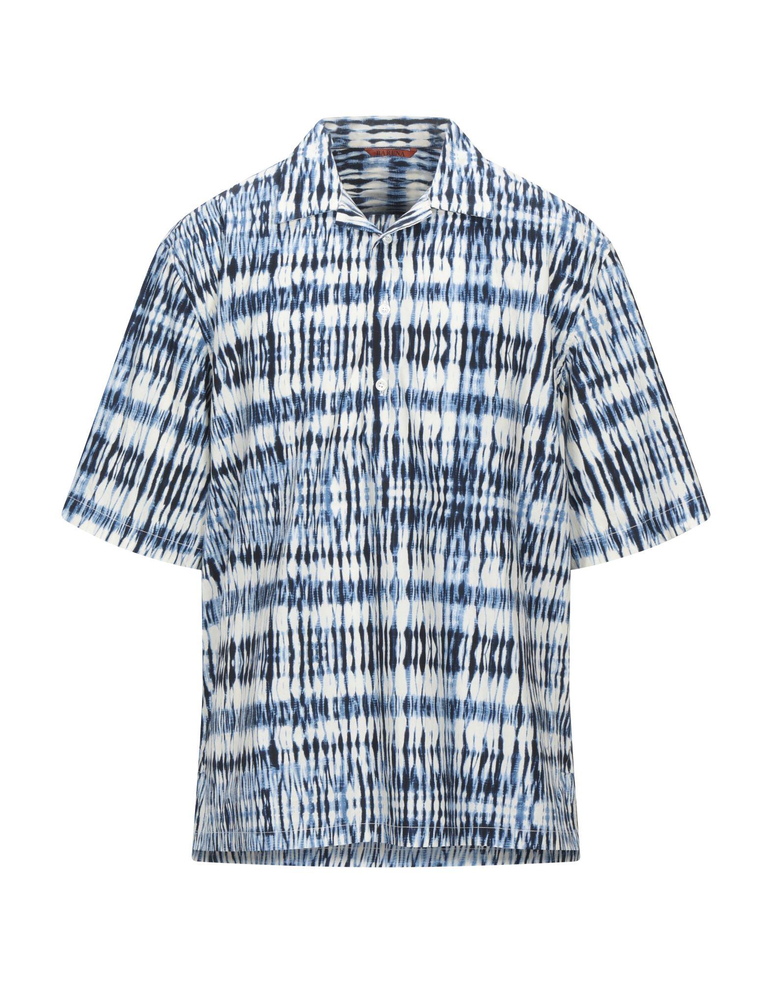 《セール開催中》BARENA メンズ シャツ ブルー 46 コットン 100%
