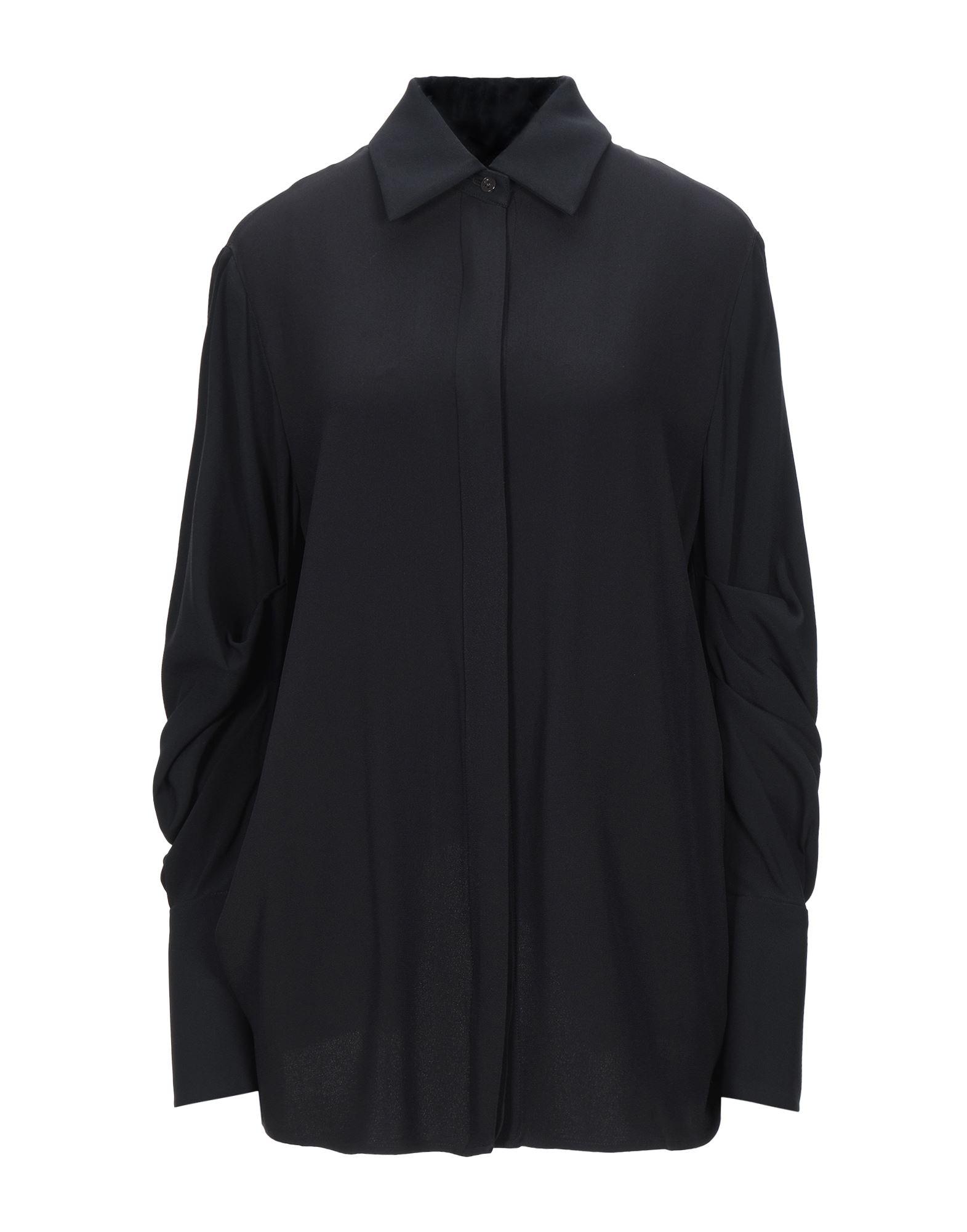 《セール開催中》MONSE レディース シャツ ブラック XS アセテート 71% / レーヨン 29%